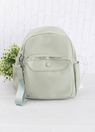 Женский бирюзовый рюкзак из эко-кожи