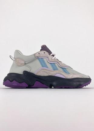 Кроссовки adidas ozweego grey purple