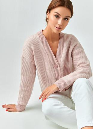 Розовый шерстяной джемпер