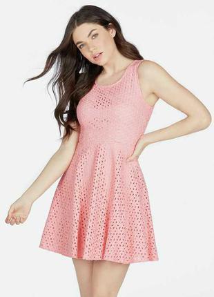 Новое платье из прошвы размера m justfab