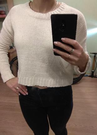 Укороченный плюшевый свитер, плюш