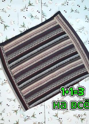 🎁1+1=3 отличная короткая юбка в принт h&m, размер 46 - 48