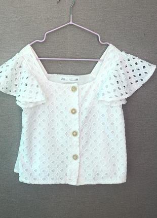 Белая блузка zara
