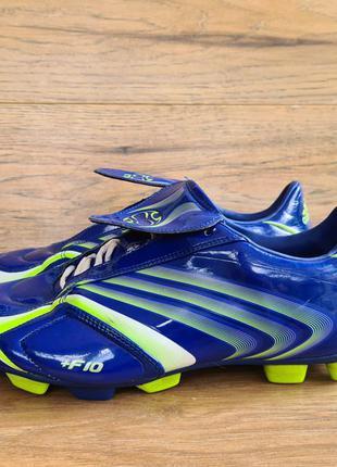 Копачки бутсы adidas f10.6 trx sg blue/green uk8 eu42