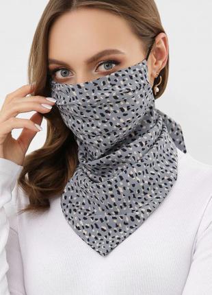 Стильная и удобная маска-платок! отличное качество,разные расцветки 💕