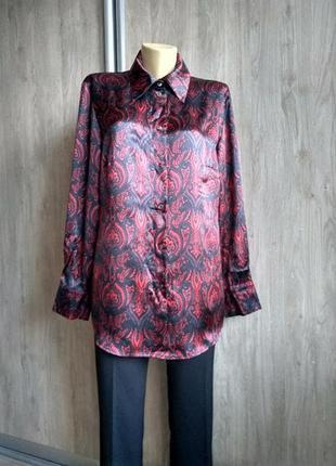 Peter hahn роскошная шёлковая блузка