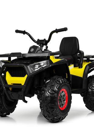 Квадроцикл детский bambi m 4081eblr-2-6 черно-желтый (1100262)