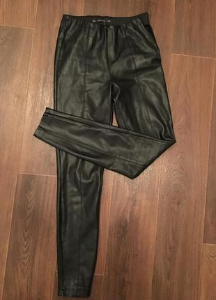 Zara лосины легинсы штаны из искусственной кожи размеры m и l