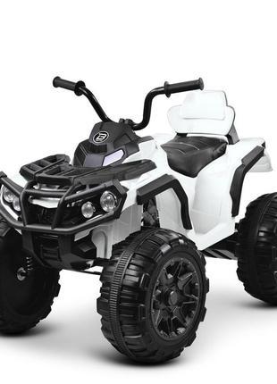 Детский электромобиль bambi racer квадроцикл m 3156 eblr-1 белый, 2 мощных мотора, usb, mp3(1100264)