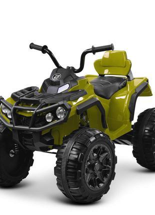 Детский электромобиль bambi racer квадроцикл m 3156 eblr-10 хаки, 2 мощных мотора, usb, mp3(1100265)
