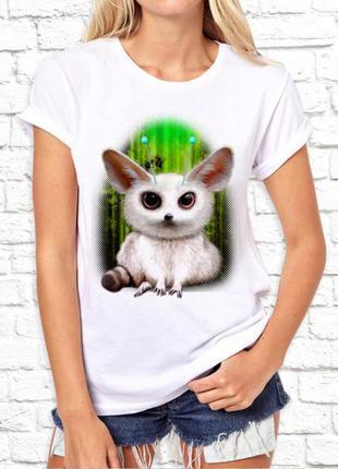 Женская футболка push it с принтом мышка фп002983(1)