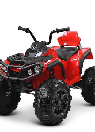 Детский электромобиль bambi racer квадроцикл m 3156 eblr-3 красный, 2 мощных мотора,usb,mp3(1100266)