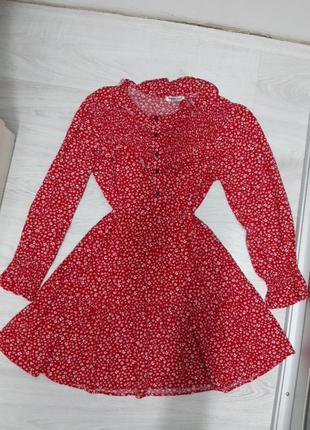 Шикарне червоне плаття вискоза
