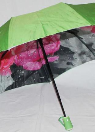 Зонт женский fiaba 792 2449 антиветер полуавтомат с цветами 98 см