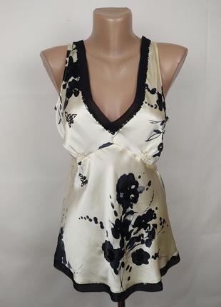 Блуза шелковая шикарная в паетки oasis uk 16/44/xl