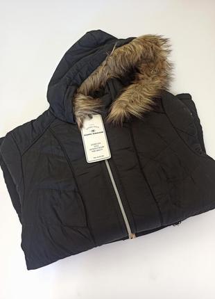 Куртка оригінал tom tailor чорна.брендовий одяг та взуття stock