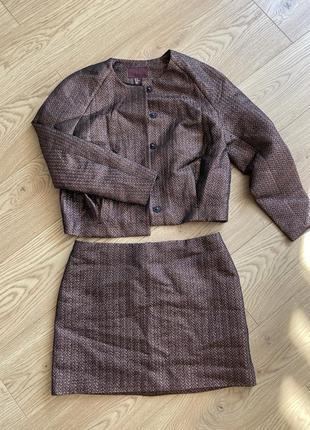 Костюм h&m юбка и пиджак