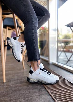 Шикарные кожаные белые кроссовки топ качество 🔥