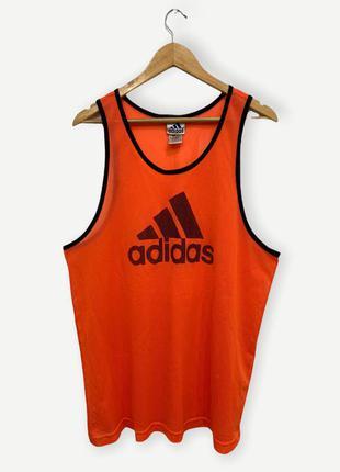 Майка adidas мужская винтажная оранжевая оригинал