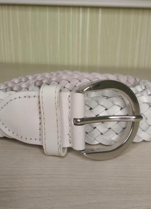 Ремень пояс женский кожаный плетенный