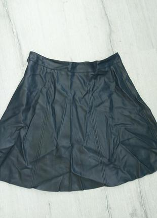 Фирменная стильная юбка под кожу