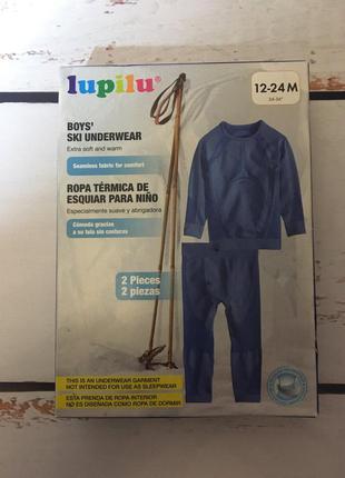 Фирменное термобелье lupilu термо белье 86-92 хлопчик