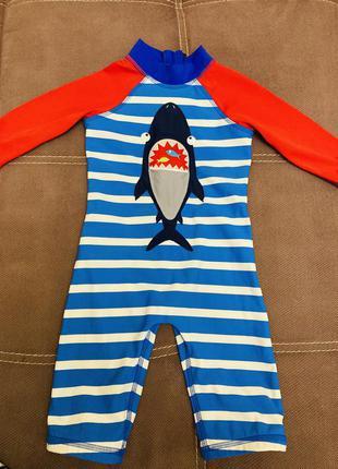 Плавательный костюм комбинезон на мальчика комплект 12 18 24 месяцев
