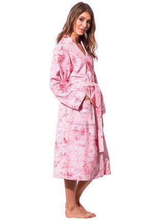Халат женский для дома банный махровый одежда для дома обмен