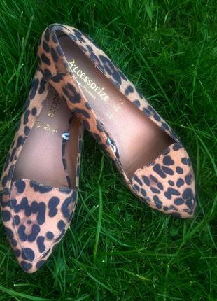 Леопардовые балетки - лодочки 🐅