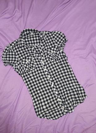 Рубашка блузка в клетку