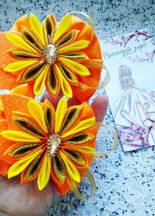 Бантики осень осенние оранжевые