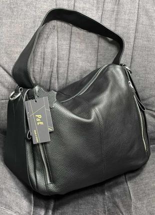 Вместительная женская кожаная сумка. сумка-мешок. polina&eiterou.