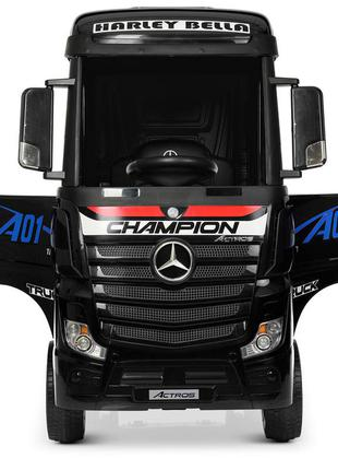 Детский электромобиль-фура- грузовик mercedes-benz actros m 4208eblr-2 черный (1100272)