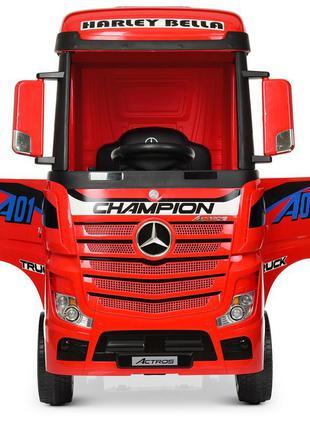 Детский электромобиль-фура- грузовик mercedes-benz actros m 4208eblr-3 красный (1100273)