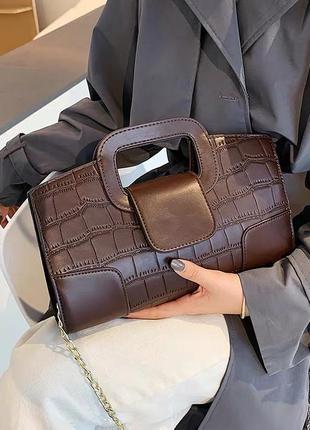 Сумка сумочка винтаж новая коричневая женская