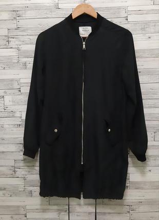 Черный бомбер ветровка легкая куртка