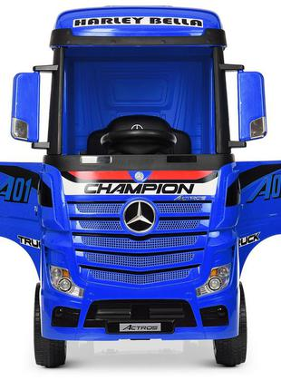 Детский электромобиль-фура- грузовик mercedes-benz actros m 4208eblr-4 синий (1100274)