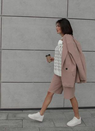 Піджак та шорти бермуди / костюм пиджак бермуды
