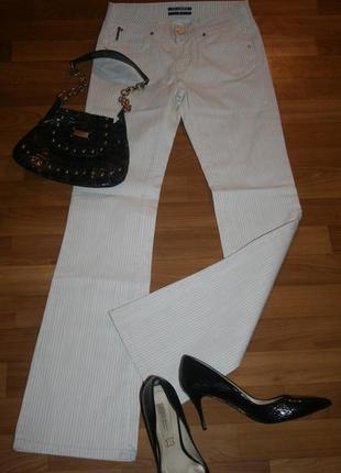 Культовые брюки джинсы в тонкую полоску от karl lagerfeld
