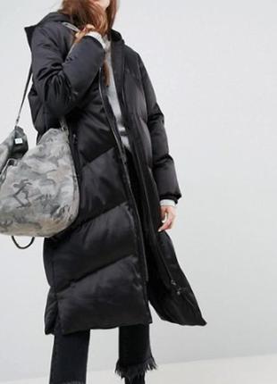 Длинное дутое зимнее oversize - пальто эксклюзивно от asos