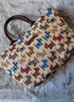 Дизайнерская тканевая гобеленовая сумка liz cox