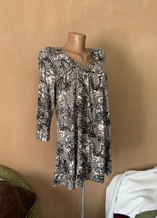 Блуза с длинным рукавом. вискоза