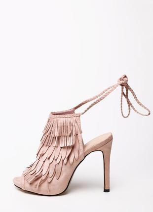Замшевые босоножки - туфли