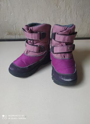 Зимові черевики, чоботи на дівчинку, розмір 26