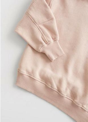 Стильный модный свитшот кофта реглан внутри на флисе для девочки zara (испания)