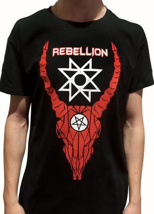 """Мужская футболка """"rebellion"""" с оригинальным авторским принтом."""