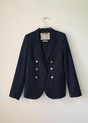 Превосходное качество 💔 двубортный темно-синий шерстяной пиджак aubin&wills с золотыми пуговицами