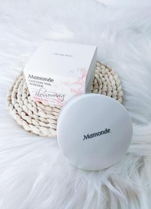 Рассыпчатая бесцветная пудра mamonde cotton veil powder 15 г