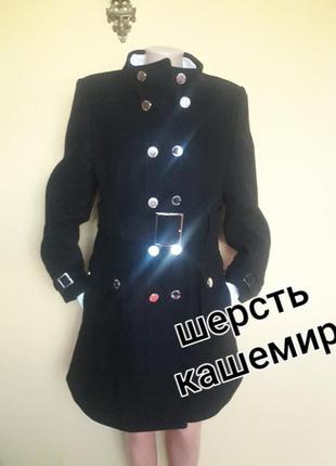 Стильное брендовое черное  пальто ,деми