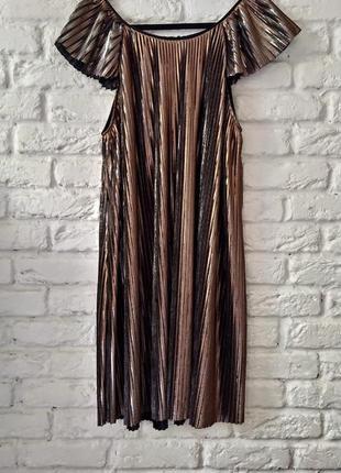 Платье италия. гофре плиссе